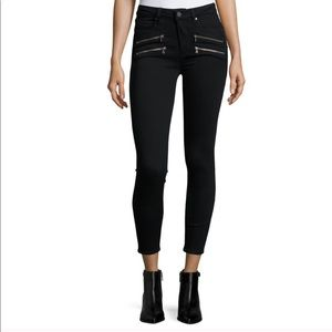Paige edgemont jeans black zipper raw hem